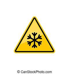 gefahr, winter, warnung, glatt, eis, zeichen, schnee, oder