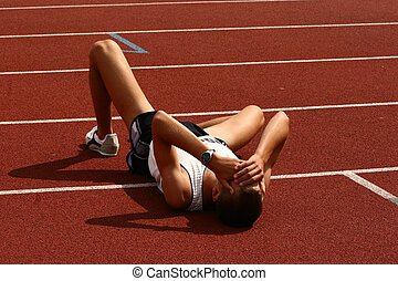 gefallener Sportler