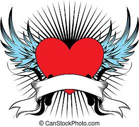 Geflügeltes Herz Emblem