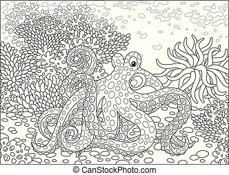 Gefleckter Tintenfisch.