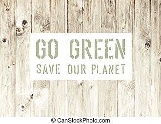 Gehen Sie grünes, abstraktes Ökologie-Poster.
