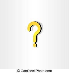 Gelbe Fragezeichen-Icon-Vektorelemente.