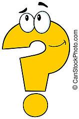 Gelbe Fragezeichen