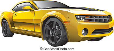 Gelber Muskelwagen