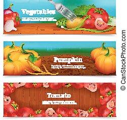 Gemüse horizontale Banner gesetzt.