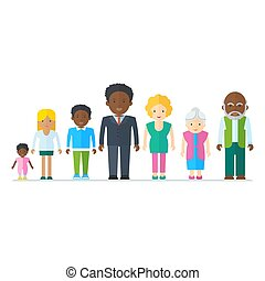 gemischter, schwarze familie