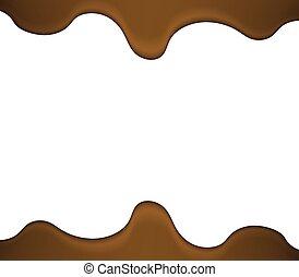 Gemolzene flüssige Schokolade.