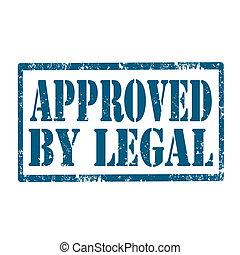 genehmigt, legal-stamp