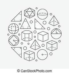 geometrie, trigonometrie, abbildung