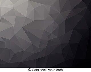 geometrisch, hintergrund, tief, schwarz