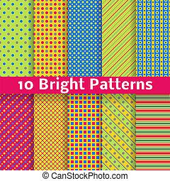 Geometrische, helle, nahrlose Muster abschaffen. Vector