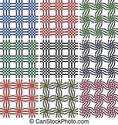 Geometrische, nahtlose Muster eingestellt.