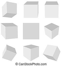Geometrischer Würfel.