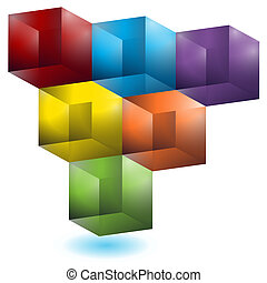 Geometrisches Würfelmuster
