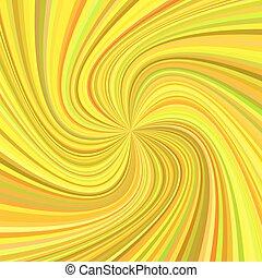 Geometrisches Wirbelhintergrund - Vektorgrafik von rotierten Strahlen in bunten Tönen.