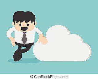 Geschäft mit Cloud Computing Business Konzept.