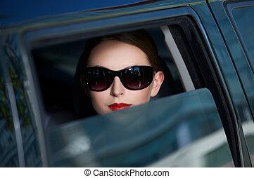 Geschäfte in der Limousine