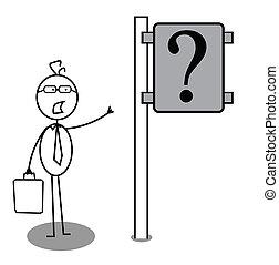 Geschäftliche Frage-Anweisung