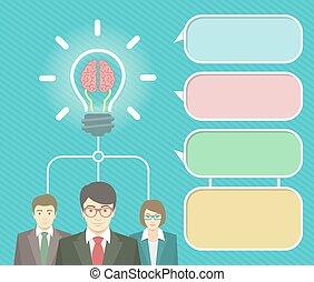 Geschäftsidee infographische Elemente