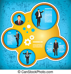 Geschäftsleute arbeiten mit dem Konzept