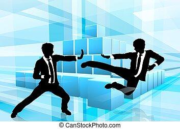 Geschäftsleute bekämpfen Wettbewerb