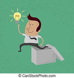 Geschäftsleute denken außerhalb der Box