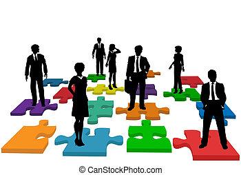 Geschäftsleute, Personal-Team-Puzzle