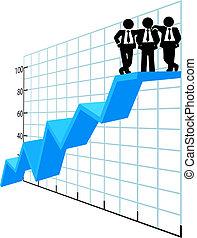 Geschäftsleute sind Top-Verkäufer