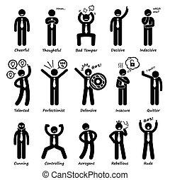Geschäftsmann Einstellung Persönlichkeiten