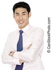 Geschäftsmann in Pink