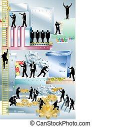 Geschäftsmaschinen-Geschäftskonzept Illustration