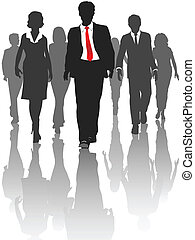 Geschäftsschmuggler gehen mit Personal um