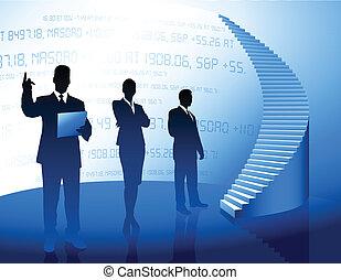 Geschäftsteam Hintergrund mit Firmenleiter