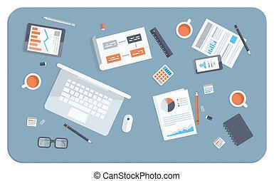 Geschäftstreffen, einfache Illustration
