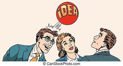 geschaeftswelt, entwickeln, mannschaft, brainstorming, idee, begriff