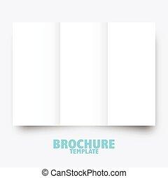 geschaeftswelt, verlagswesen, presentation., schablone, broschüre, trifold