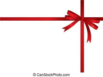 geschenkband, (vector), rotes