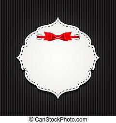 Geschenkkarte mit Band, Designelementen. Vector Illustration