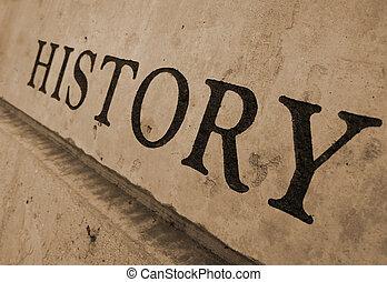 Geschichte in Stein gemeißelt