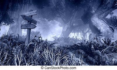 Geschlagener Wald