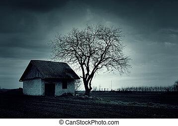 Geschlagenes Haus.