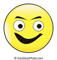 gesicht, emoticon, lächeln, taste, große augen