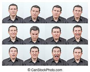 Gesichtsausdrücke.