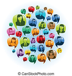 Gespräche über soziale Medien