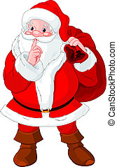 gesturing, weihnachtsmann, shush
