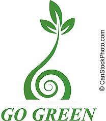 Gesundes grünes Symbollogo.