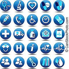 Gesundheits-Ikons Matt