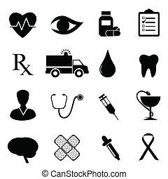 Gesundheits- und medizinisches Ikonenset