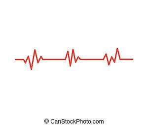 Gesundheitsmedizinischer Herzschlag.