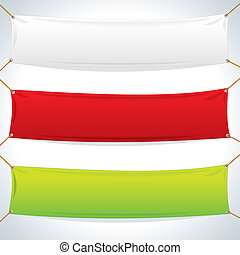 gewebe, banners., vektor, schablone, abbildung